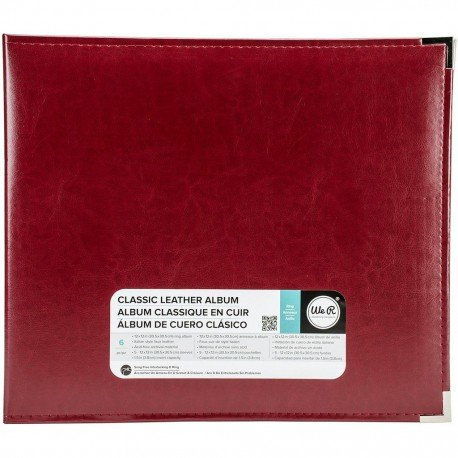 Album - Rouge - Wine - Faux Leather - 30x30 - We R Memory Keepers
