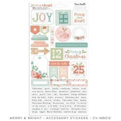 Stickers - Merry & Bright - Cocoa Vanilla