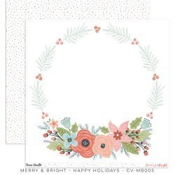 Papier 30x30 - Happy Holidays - Merry & Bright - Cocoa Vanilla