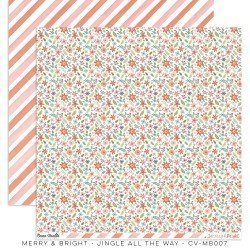 Papier 30x30 - Jingle all the way - Merry & Bright - Cocoa Vanilla