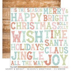 Papier 30x30 - Season's Greeting - Merry & Bright - Cocoa Vanilla