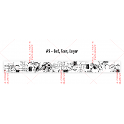 Masking tape - n°9 - Cut, Tear, Layer - AALL & Create