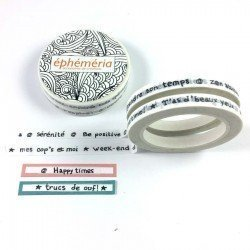 Lot de 2 Masking tape - Mini mots - Ephemeria
