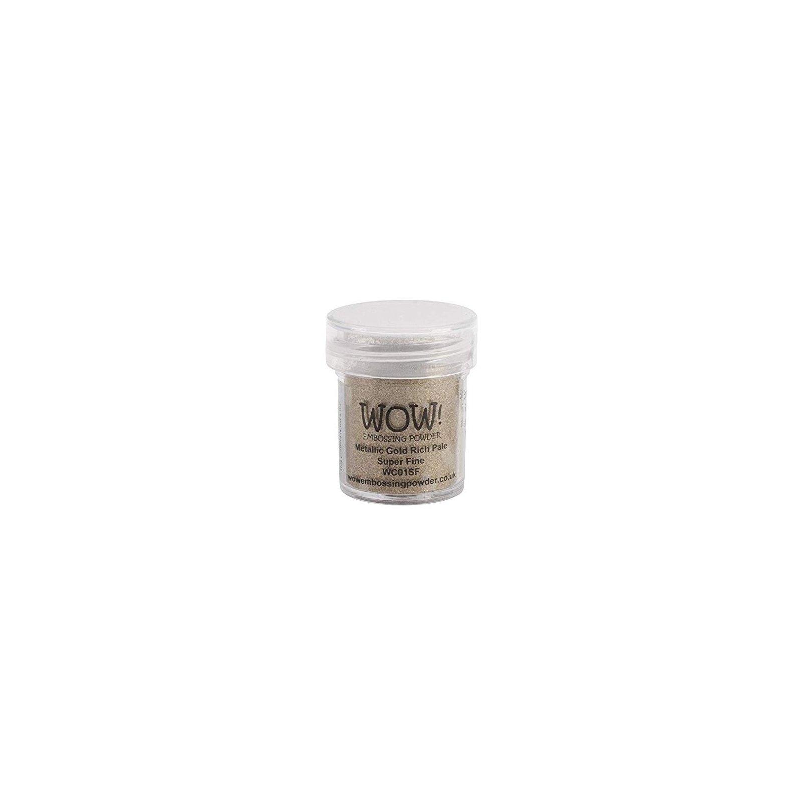 Poudre à embosser - Or - Metallic Gold Rich Pale - Super Fine - WOW!