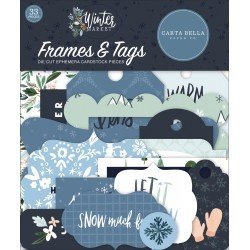 Die-cuts - Frames & Tags - Winter Market - Carta Bella