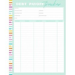 Recharges pour Classic Happy Planner - Savy Saver - Debt Payoff Tracker - MAMBI