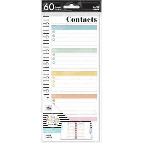 Recharges pour Classic Happy Planner - Contact - Half Sheet- Budget Tracker - MAMBI