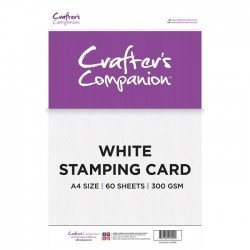 Pack de 60 feuilles blanches - Stamping - 300gr/m2 - Crafter's Companion