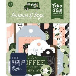 Die-cuts Cadres et Tags - Coffee & Friends - Echo Park Paper Co.