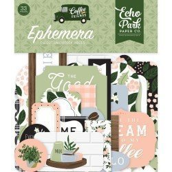 Die-cuts Ephemeras - Coffee & Friends - Echo Park Paper Co.