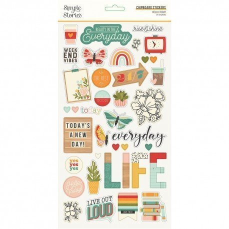 Chipboards Stickers - Hello Today - Simple Stories
