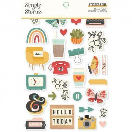 Sticker Book - Hello Today - Simple Stories