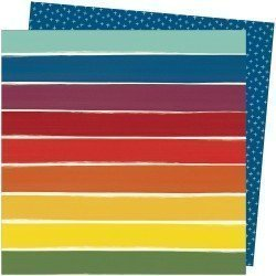 Papier imprimé - Rainbow Lane - Late afternoon - Amy Tangerine