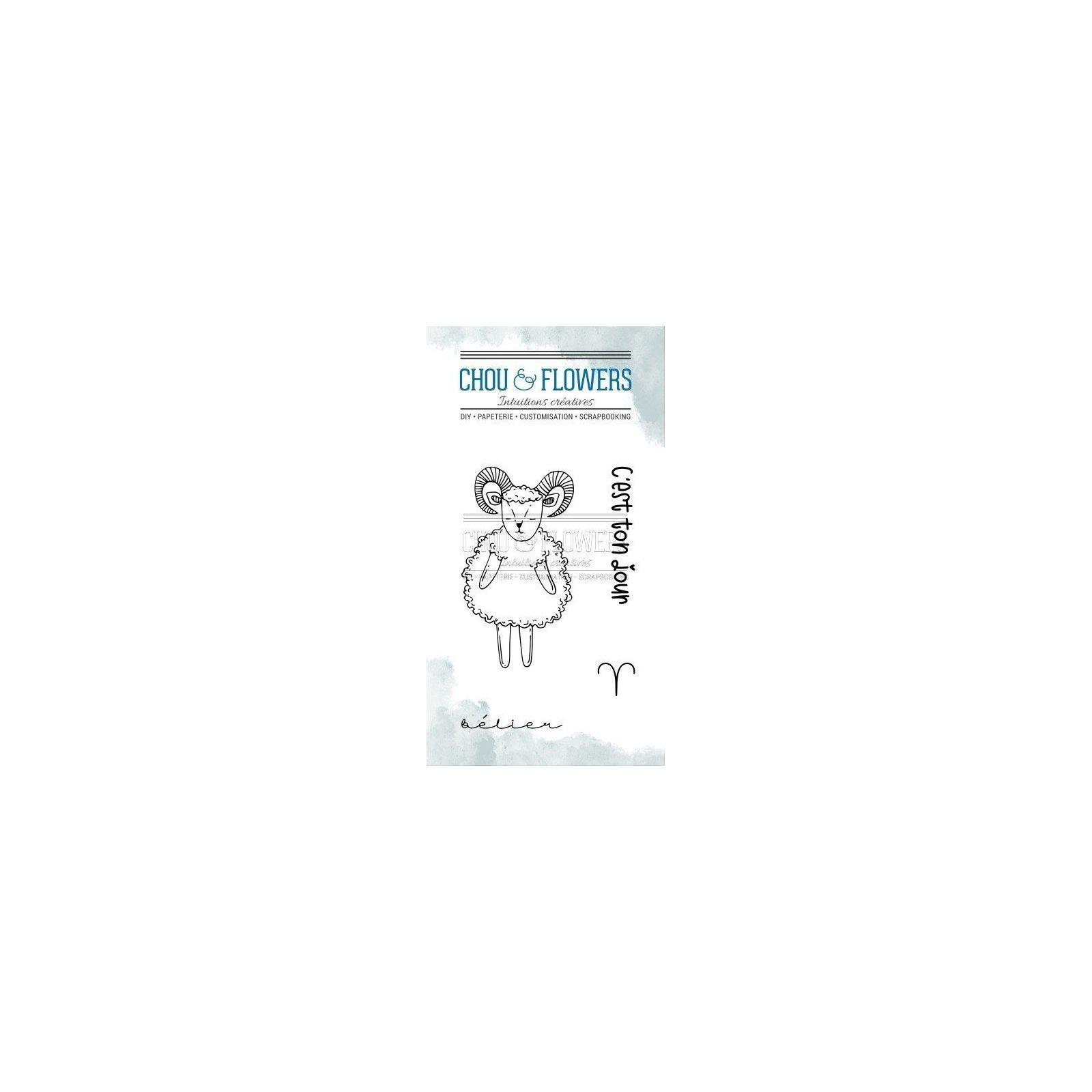 Tampon clear - Doudou Bélier - Dans la lune - Chou & Flowers