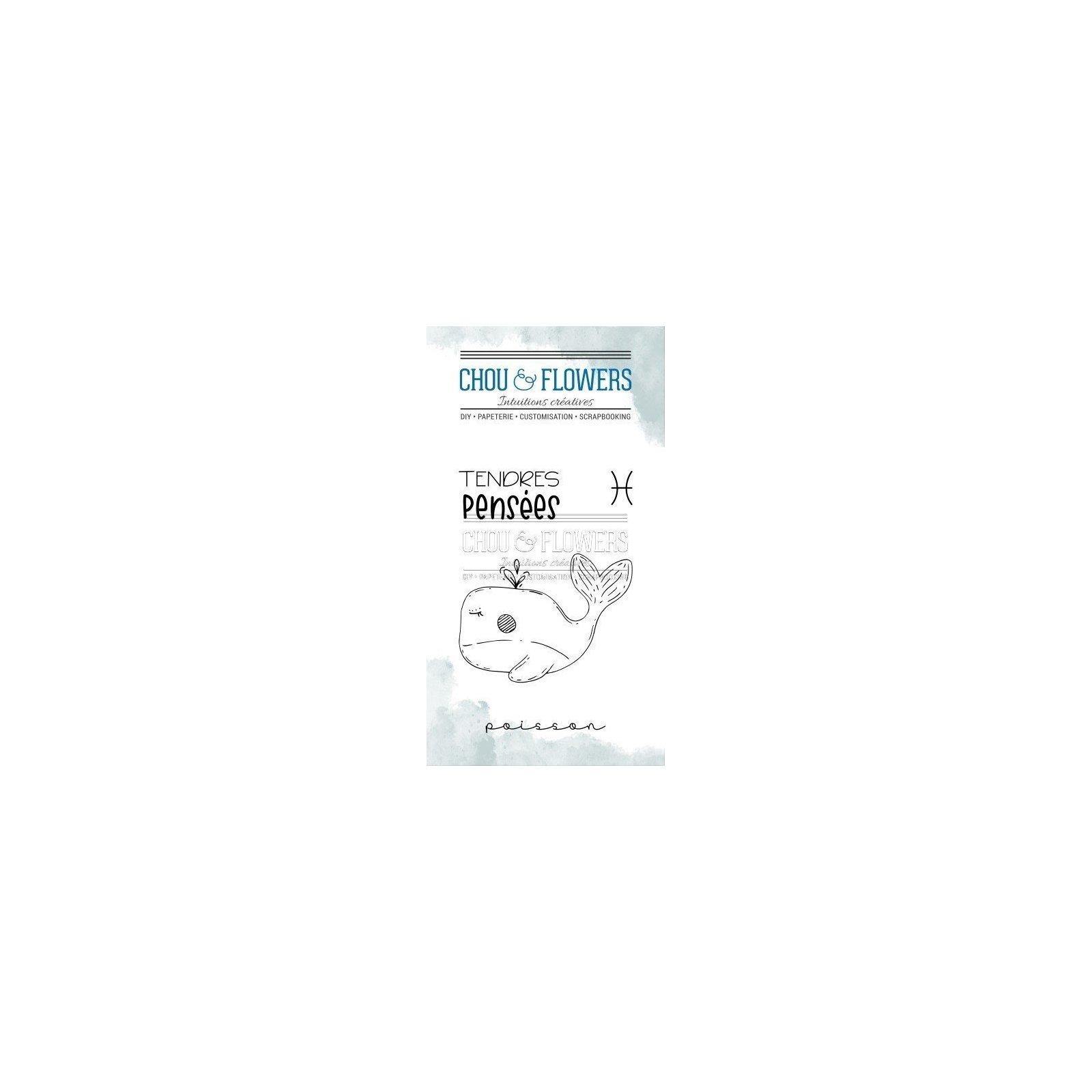 Tampon clear - Doudou Poisson - Dans la lune - Chou & Flowers