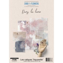Collection A4 – Les calques - Aquarelle - Dans la lune - Chou & Flowers