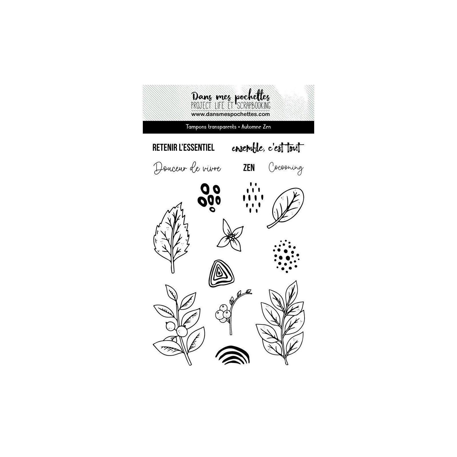 Tampon clear - Automne Zen - Dans mes pochettes