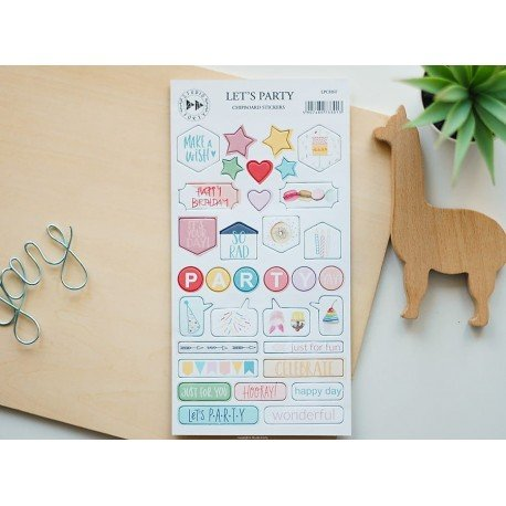 Chipboards Stickers - Let's party - Studio Forty
