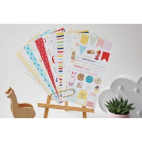 Assortiment de papiers pour Traveler's Notebook - Let's party - Studio Forty
