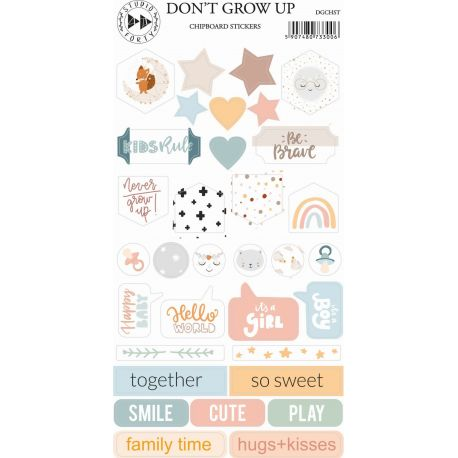 Chipboards Stickers - Don't grow up - Studio Forty
