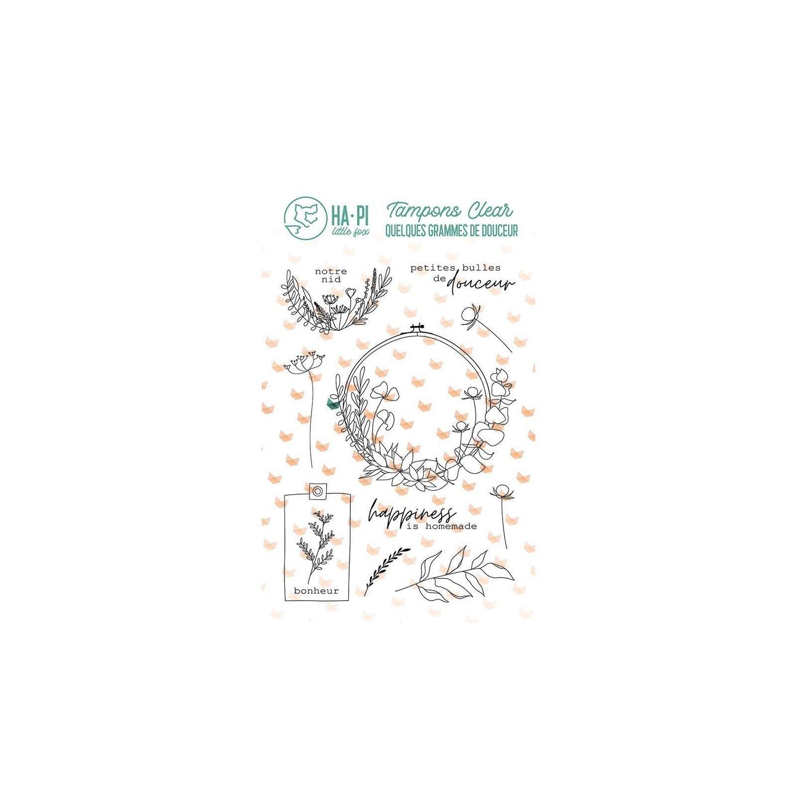 Tampon transparent - Notre nid - Quelques grammes de douceur - Ha Pi Little Fox