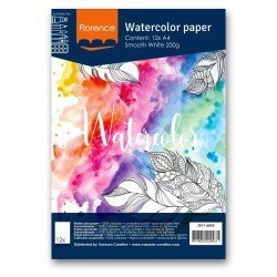Papiers aquarelle - Smooth white - A4 - 200gr - Florence - Vaessen Creative