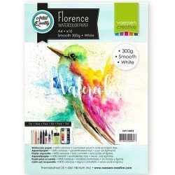 Papiers aquarelle - Smooth white - A4 - 300gr - Florence - Vaessen Creative