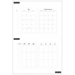 Big Happy Planner - 2021/2022 - Black & White - 18 mois - Vertical layout - MAMBI