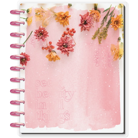 Big Happy Planner - 2021/2022 - Pressed Florals - 18 mois - Vertical layout - MAMBI