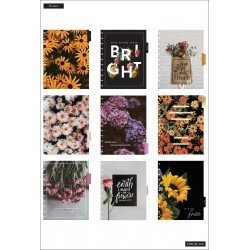 Big Happy Planner - 2021/2022 - Moody Florals  - 18 mois - Horizontal layout - MAMBI