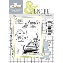 Tampon clear - Courrier urgent - Collection 39 - L'encre et l'Image