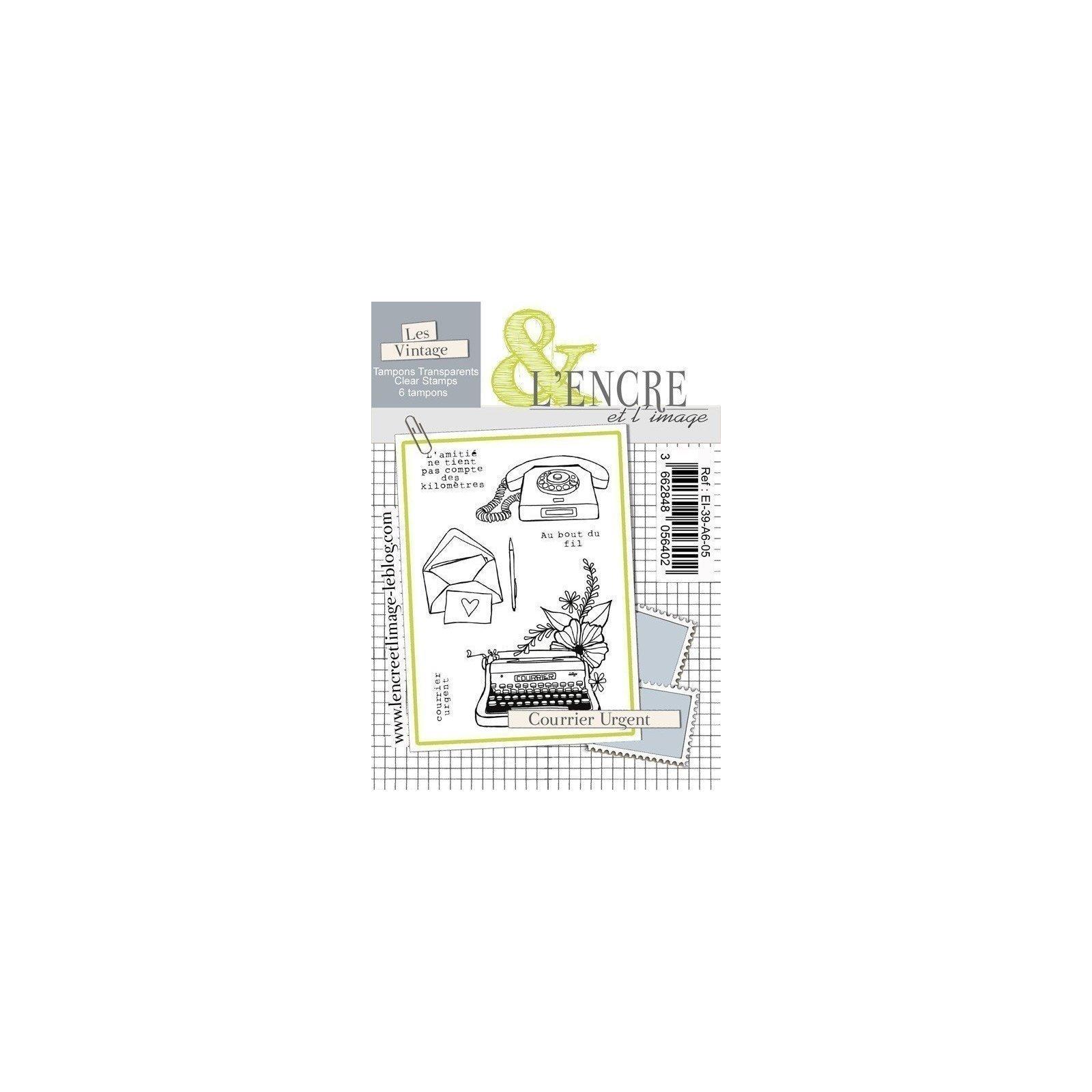 Tampon clear - Courrier urgent - Collection 39 - L'encre et l'Image