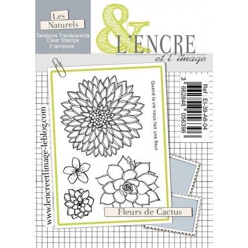 Tampon clear - Fleurs de cactus - Collection 39 - L'encre et l'Image