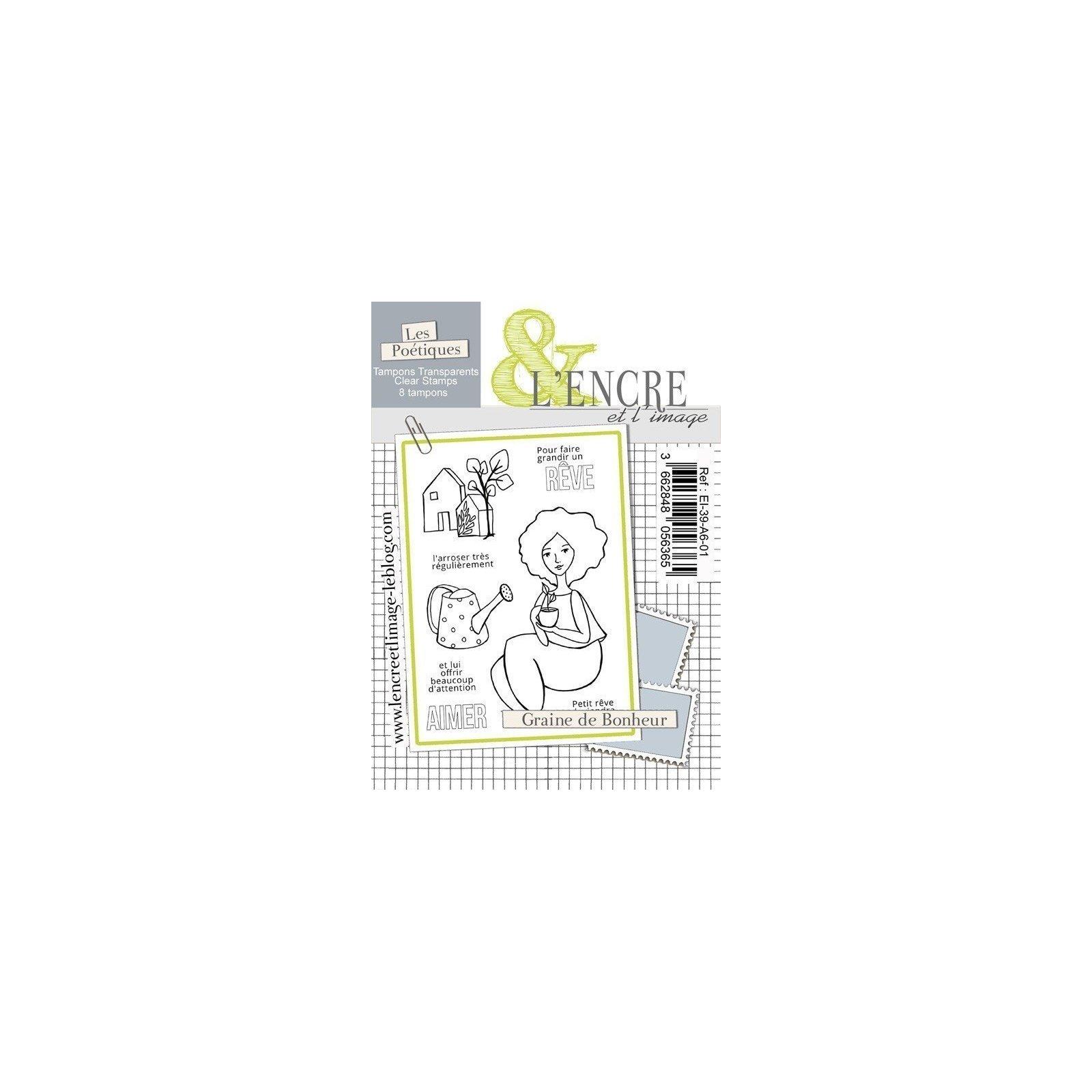 Tampon clear - Graine de bonheur - Collection 39 - L'encre et l'Image