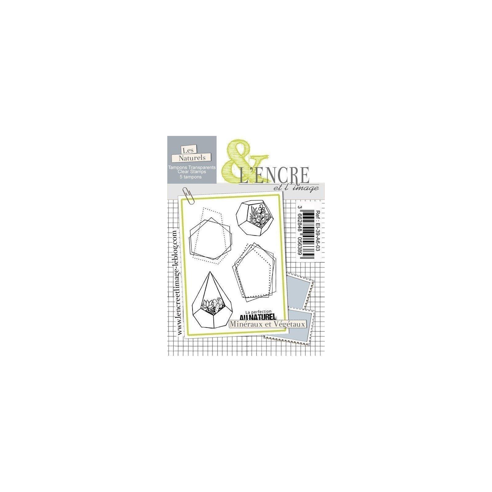 Tampon clear - Minéraux et végétaux - Collection 39 - L'encre et l'Image