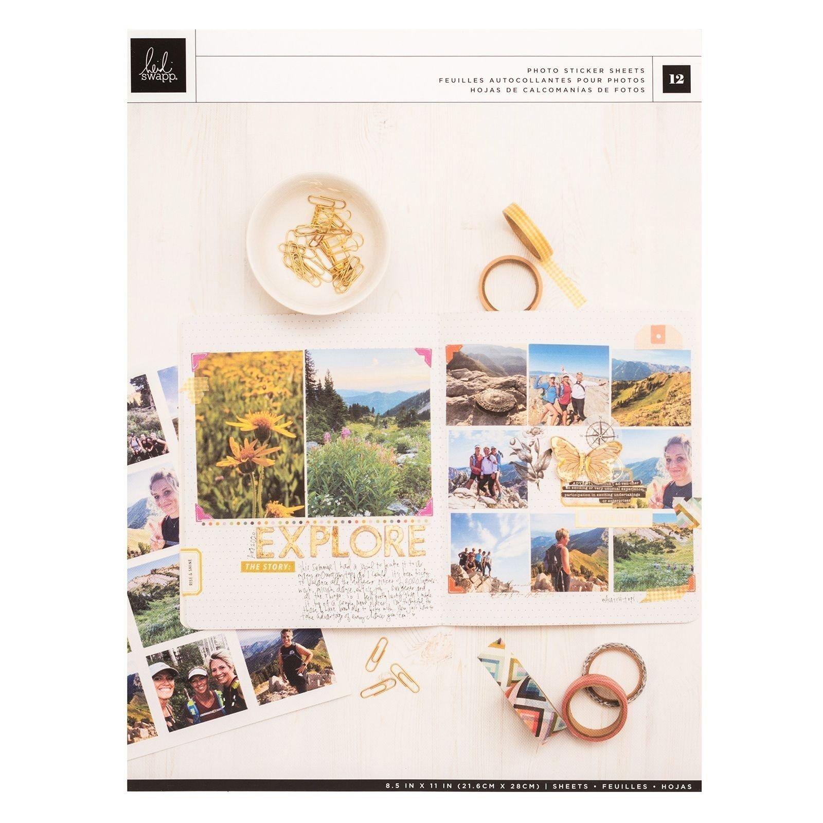 Feuilles autocollantes pour photos - Storyline Chapters - Heidi Swapp