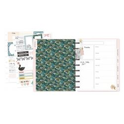 Classic Disc Planner - Black and White Floral - Freestyle layout - Maggie Holmes