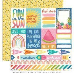 Papier 30 x 30 - Fun in the sun - Sunkissed - Cocoa Vanilla