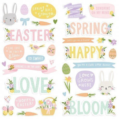 Stickers mousse - Bunnies + Bloom - Simple Stories