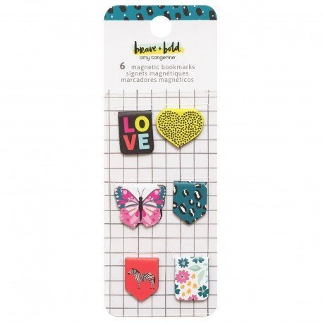 Bookmarks magnétiques - Brave + Bold - Amy Tangerine