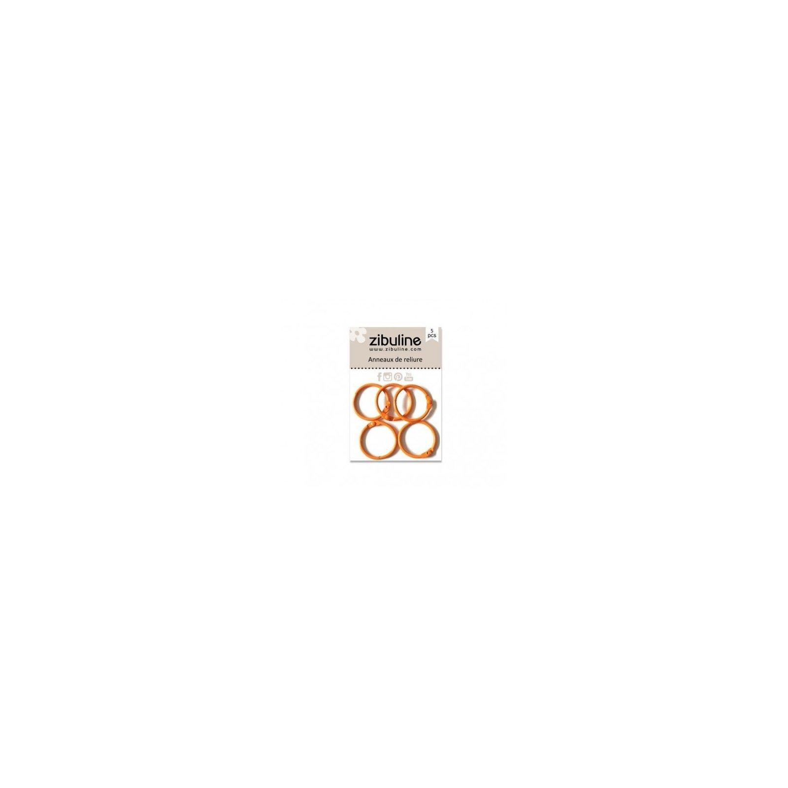 Anneaux de reliure 25 mm - Orange - Zibuline