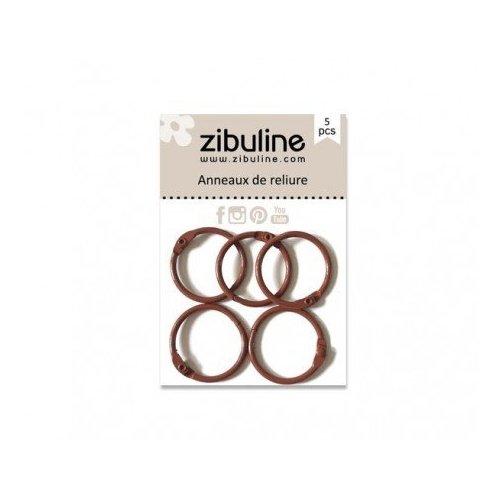 Anneaux de reliure 25 mm - Marron - Zibuline