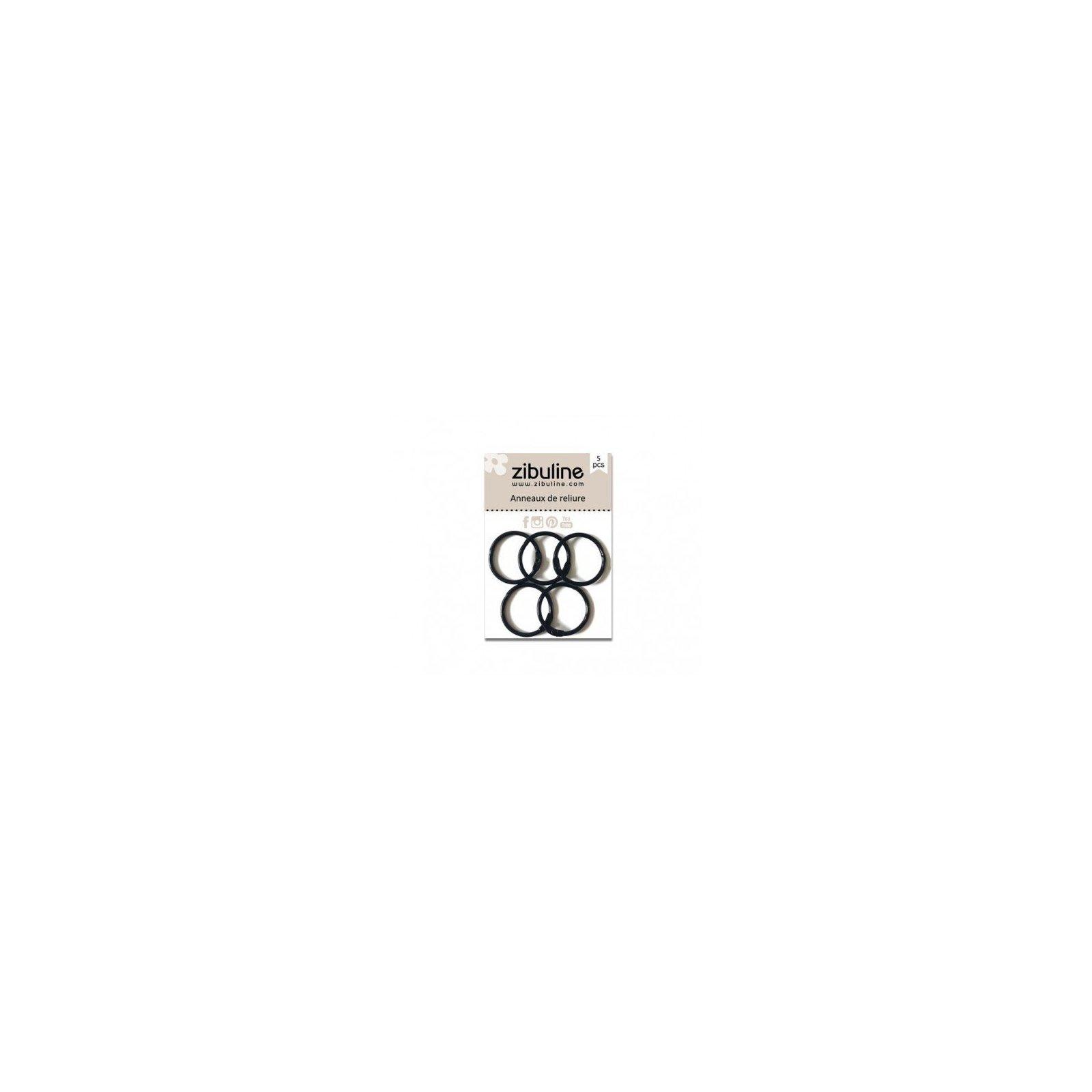 Anneaux de reliure 25 mm - Noir - Zibuline