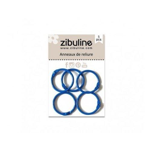 Anneaux de reliure 25 mm - Bleu roi - Zibuline