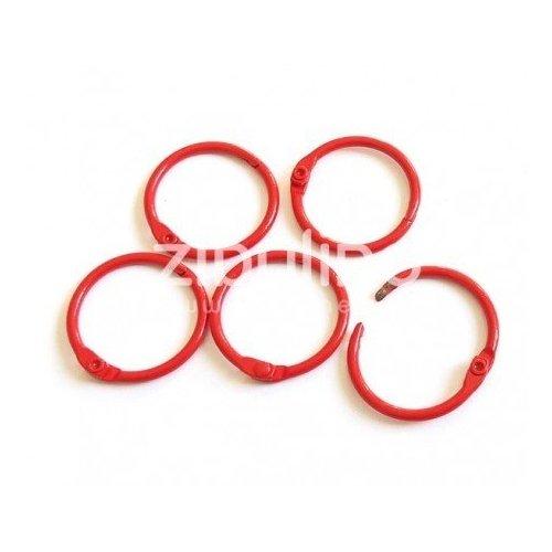 Anneaux de reliure 25 mm - Rouge - Zibuline
