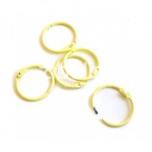 Anneaux de reliure 25 mm - Jaune Pastel - Zibuline