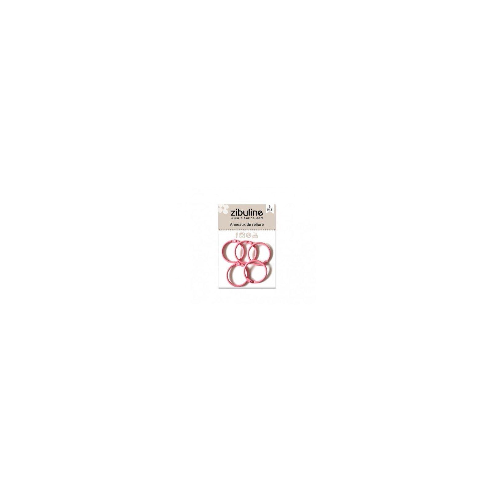 Anneaux de reliure 25 mm - Rose - Zibuline