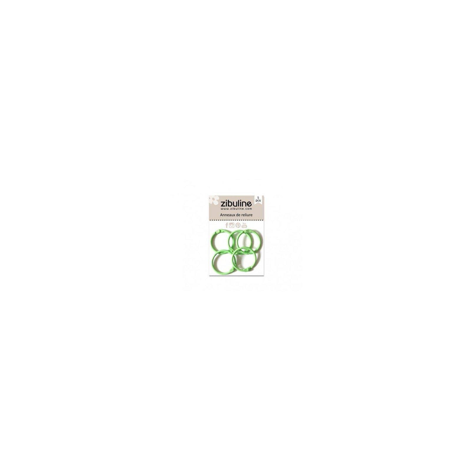 Anneaux de reliure 25 mm - Vert pastel - Zibuline