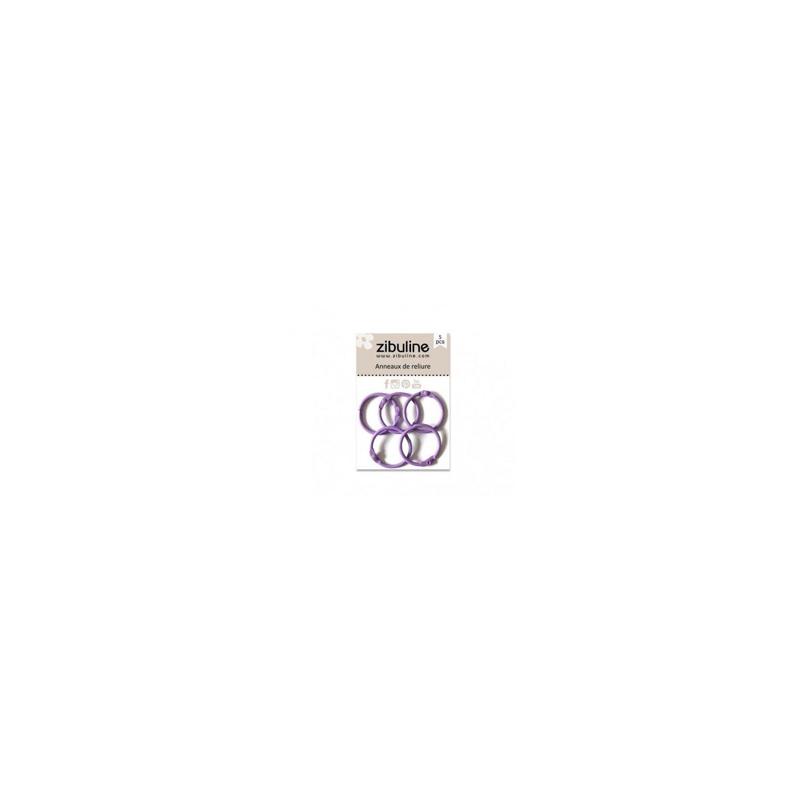 Anneaux de reliure 25 mm - Parme - Zibuline
