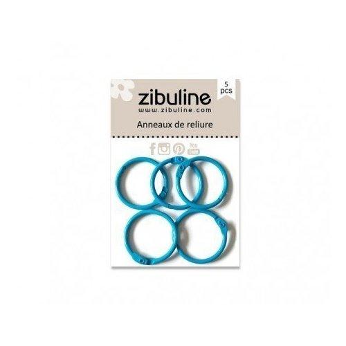 Anneaux de reliure 25 mm - Bleu Cyan - Zibuline